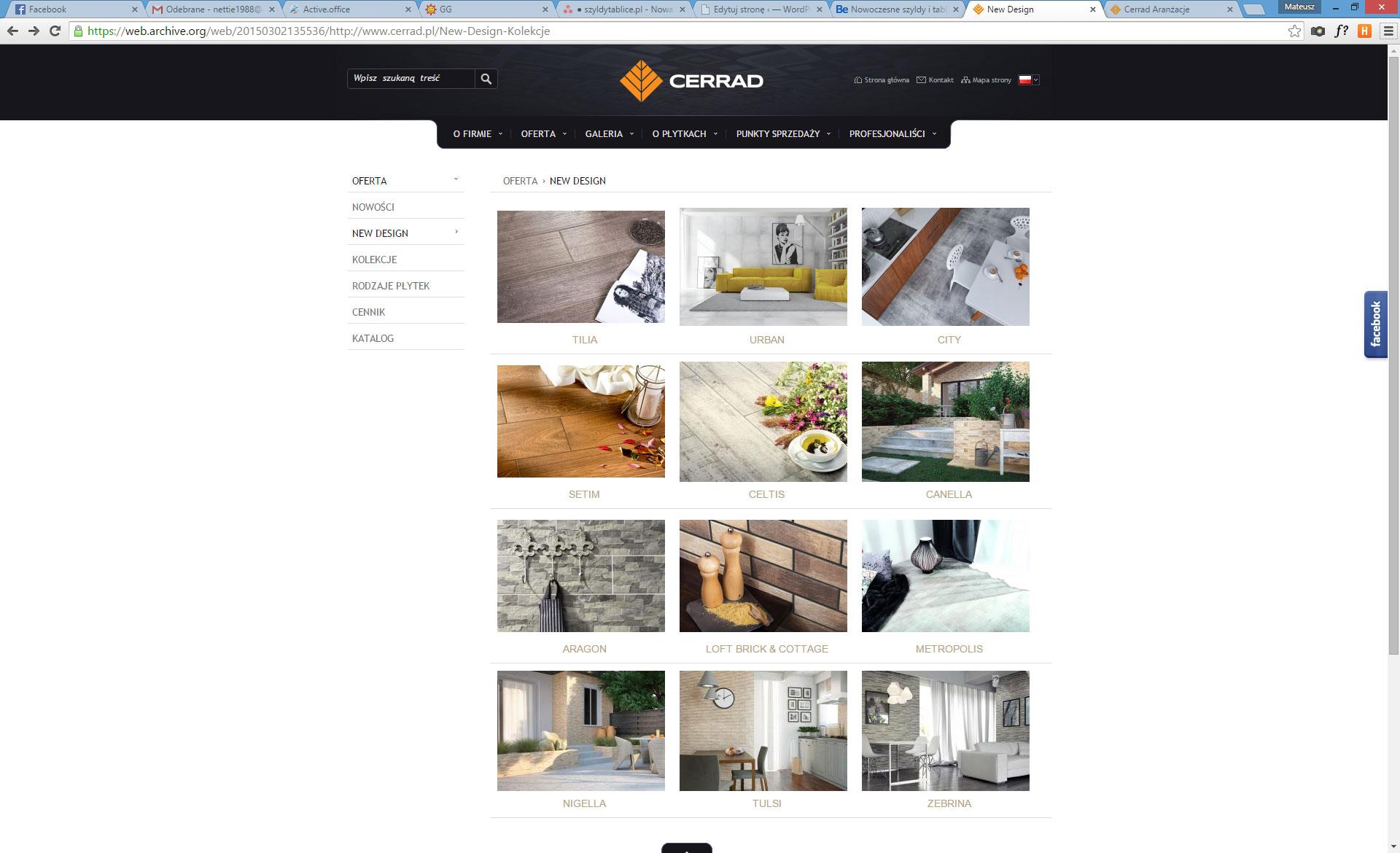 Strona firmowa Cerrad kolekcja New Design