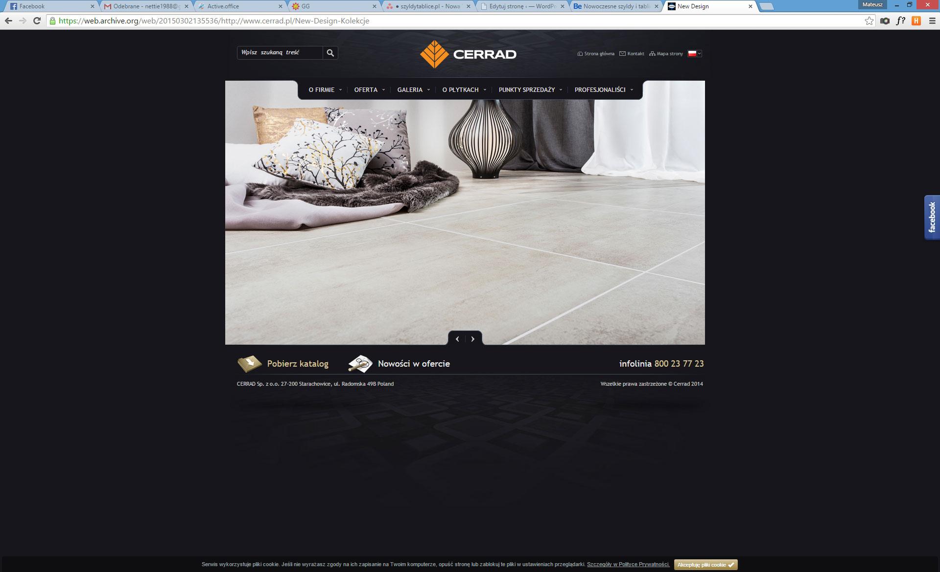 Strona www firmy Cerrad