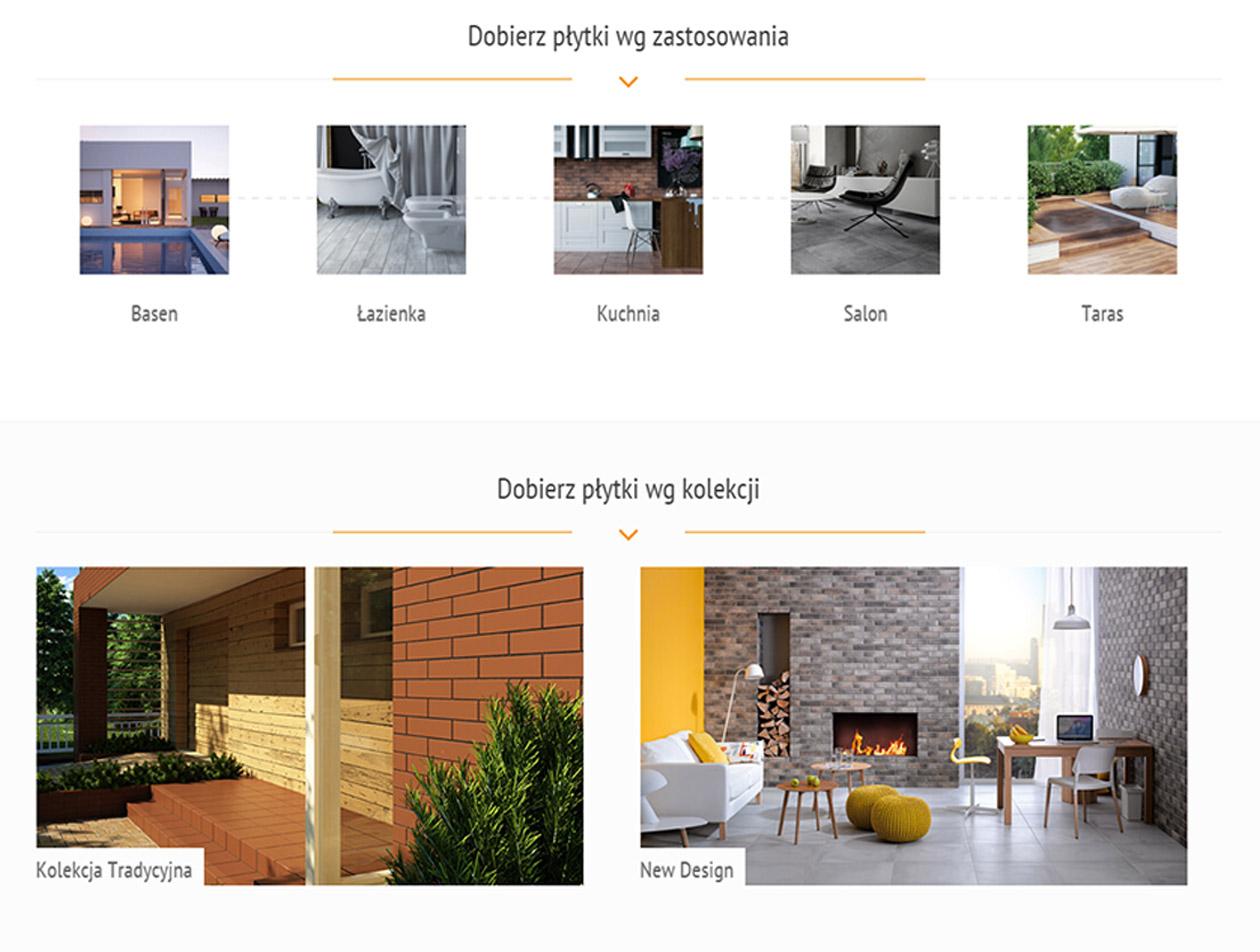 Strona firmowa Cerrad katalog produktów