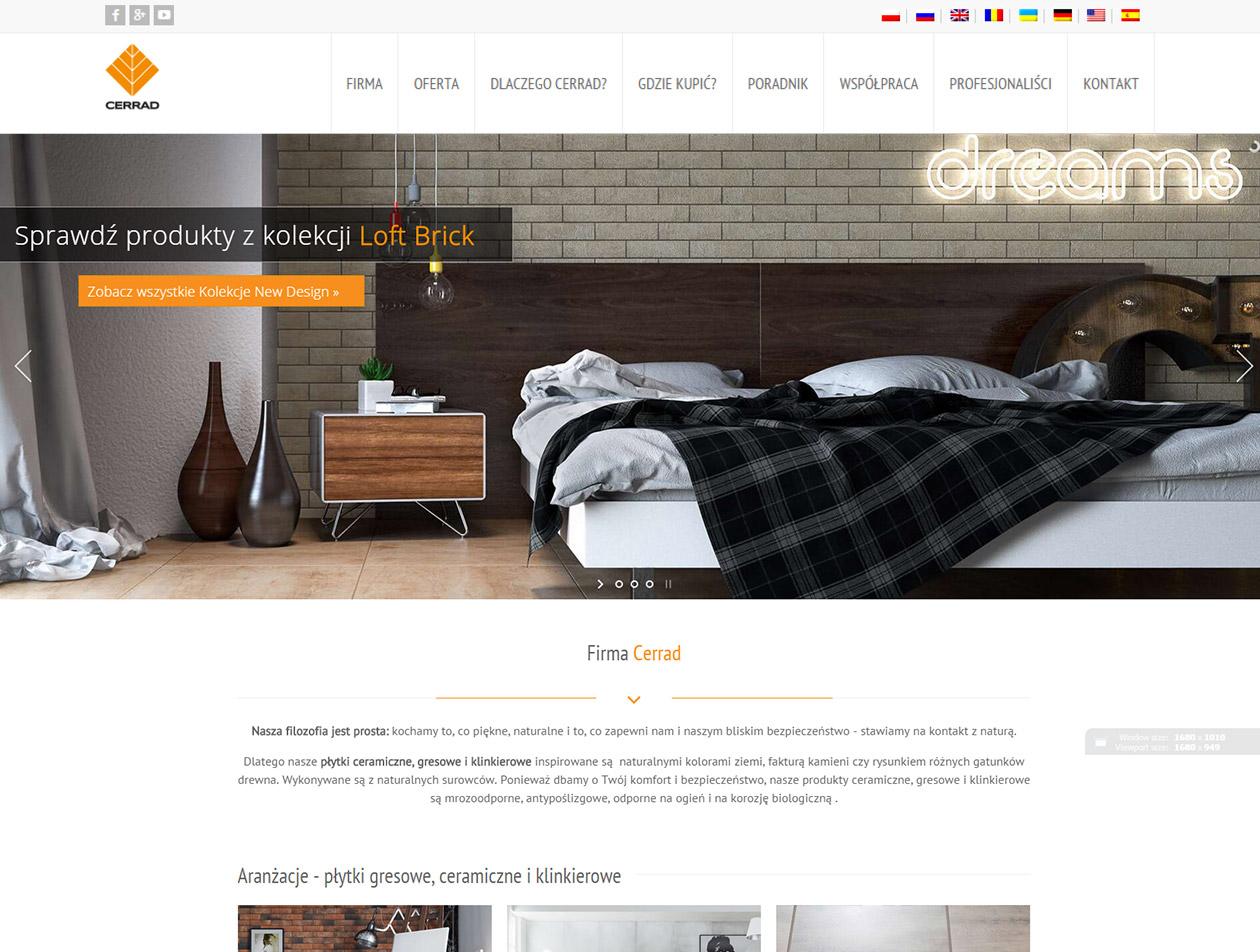 Strona firmowa firmy Cerrad